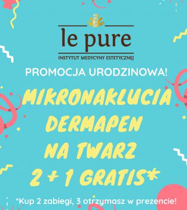 Mikronakłucia Dermapen na twarz 2 + 1 gratis!