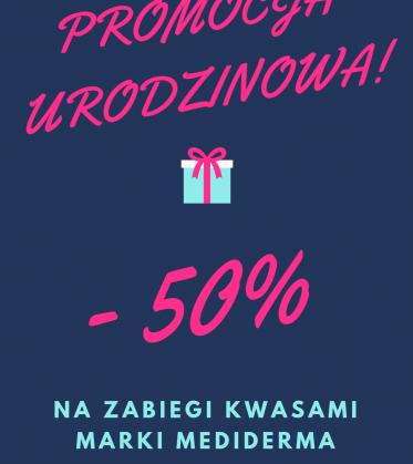 -50% Na zabiegi kwasami marki Mediderma!